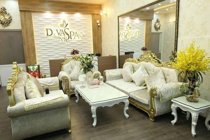 DIVA spa có không gian làm đẹp hiện đại, sạch sẽ .